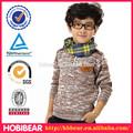 Hobibear camisolas de malha infantil o- pescoço pulôveres coat roupa infantil camisolas outono inverno crianças outerwear do vestuário