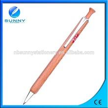 promotional wooden ball pen , retractable wood ballpoint pen