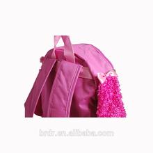 Cute Dog Shape Pink Plush Animal Backpack for Little Girl