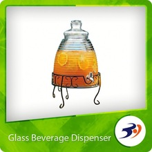 New glass orange juice dispenser