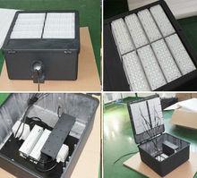 DLC AC100-277 dimmable high lumen output factory price parking lot / high pole led shoebox light 400w
