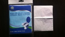 disposable hygienic paper toilet seat cover, 1/2 fold traveling packing