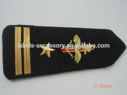 garment velcro custom rank badge 2015 captain epaulette