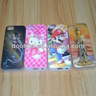 Wholesale 2015 Newest 3D Cute cartoon Pattern Plastic Phone Case for iPhone 5 & 5S