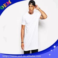 mens elongate blank t shirt,elongated tees,tall tshirt