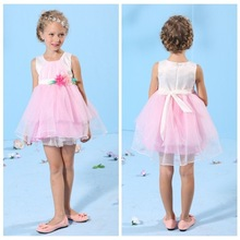 2015 kids party dresses wholesale cotton frock baby girls