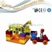 farm animals plastic intellectual building blocks toys for preschool
