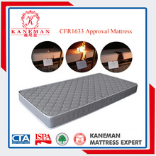 knitted fabric king memory foam pocket coil spring mattress with US CFR 1633 & 1632 standard