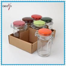 Air tight glass herb storage glass jar with ceramic lid