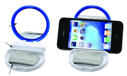 cell phone table holder, mobile phone table holder with Screen Cleaning Cloth and Round Mirror YC576