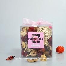 Dried Flower Potpourri Air Freshener, Sachet in square PVC box