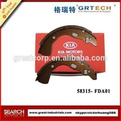 car brake shoe, auto brake shoe 58315-FDA01