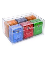 Clear Acrylic Tea Bag Holder 6 Compact Tea Bag Organizer