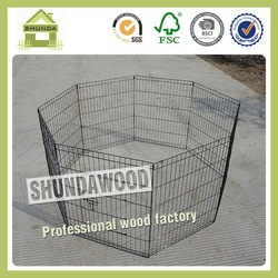 SDW03 Black 8-Panels Outdoor Metal Enclosure for Dogs