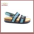 china atacado crianças cortiça palmilha birkenstock sandália para meninos