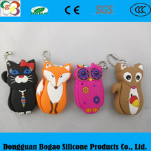 Cartoon Animal Nail Clippers silicone Nail Scissors soft silicone Nail Cutter