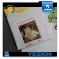 Yesion 2015 caliente de ventas! A4 a3 chapa tamañomejor tasa de transferencia de> 98% t- shirt sublimación papel de transferencia, de transferencia de calor de papel