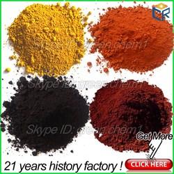 Different color pigment iron oxide color concrete/cement/asphalt mixed