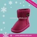venta al por mayor de invierno botas calientes con el botón de mujeres botas de nieve