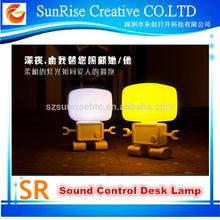 Sunrise LED Intelligent Robot Sound Control Desk Lamp Night Kid Bedroom Light