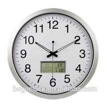 Aluminium Digital clock with LCD calendar