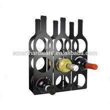 BOTTLE shaped metal wine rack Modern metal wine holder