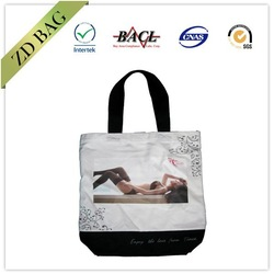 Reusable pvc coated cotton tote bag