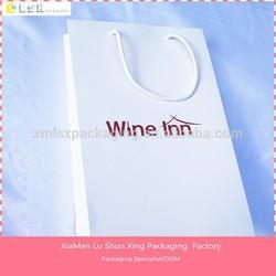 custom paper wine bags, elegant wine gift paper bag
