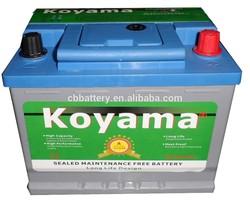 Maintenance Free Sealed Calcuim Automotive Batteries DIN45MF