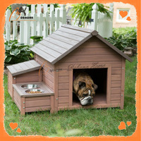 Solid wood portable dog boarding kennel