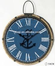 Round Ocean Vintage Decorative Metal Clock
