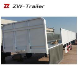 China trailer manufacturer 12.5m 3 Axle Side Wall Cargo Semi Trailer, Truck Trailer