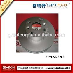 auto brake disc 51712-FD200, china car brake disc
