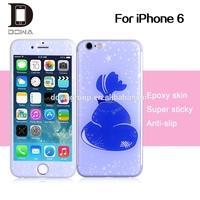 Hot sale 3d phone gel skin, for iPhone 6 factory gel skin sticker