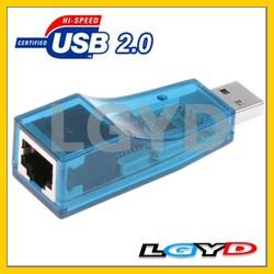 USB 2.0 RJ45 Lan Card 10/100M Ethernet external Network Adapter