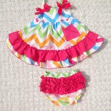 Cascade taffeta short sleeve baby dresses with flower