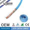 sipu 24 awg utp cat5e lan cable de red el cable de núcleo múltiple cat5e estándar de la ue con cable aprobado por la ce