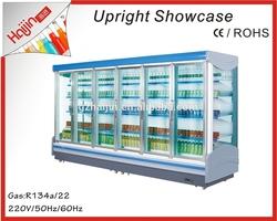 0 degree low temperature Automatic defrost supermarket fridge/new style display fridge