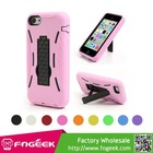 Plastic & Silicone Hybrid Robot Defender Case w/ Stand for iPhone 5C