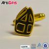 Newest style stainless steel cufflinks letter shaped cufflinks