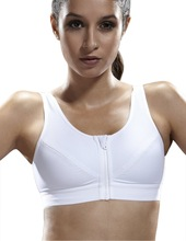 Yvette Zip Front Closure Sports Bra #6015-High Impact/Running/Compression