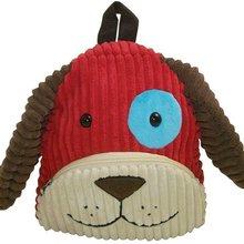 Plush Dog Backpack/Dog Corduroy Backpack/Plush Animal CuddlePack