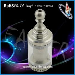 2015 Easter new loading full ecig rebuildable atomizer Kayfun fivepawns atomizer
