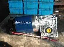 12V DC brush worm gear motor,hollow shaft