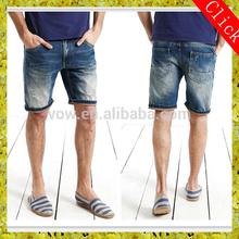 men denim jeans short fashionble big back pocket design white and blue gradient summer mens high quality low price