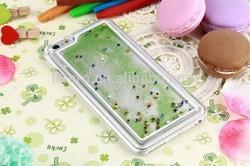 Fun Glitter Star Liquid Back Case cover for iphone6 plus transparent clear case Cover