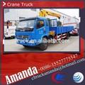Dongfeng 4 * 2 picape pequena guindaste, 124hp 3.5 t guindaste truck, Guindaste usado caminhões para venda