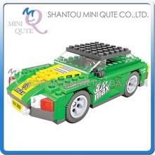 Mini Qute DIY boys F1 flame racing car motorcycle kart action figure plastic model building block brick educational toy NO.26408