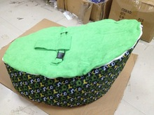 New Designed football base Baby Bean Bag Bed , kids beanbag sofa seat with harness