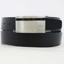 embossed grain split leather classic reversible belts for man
